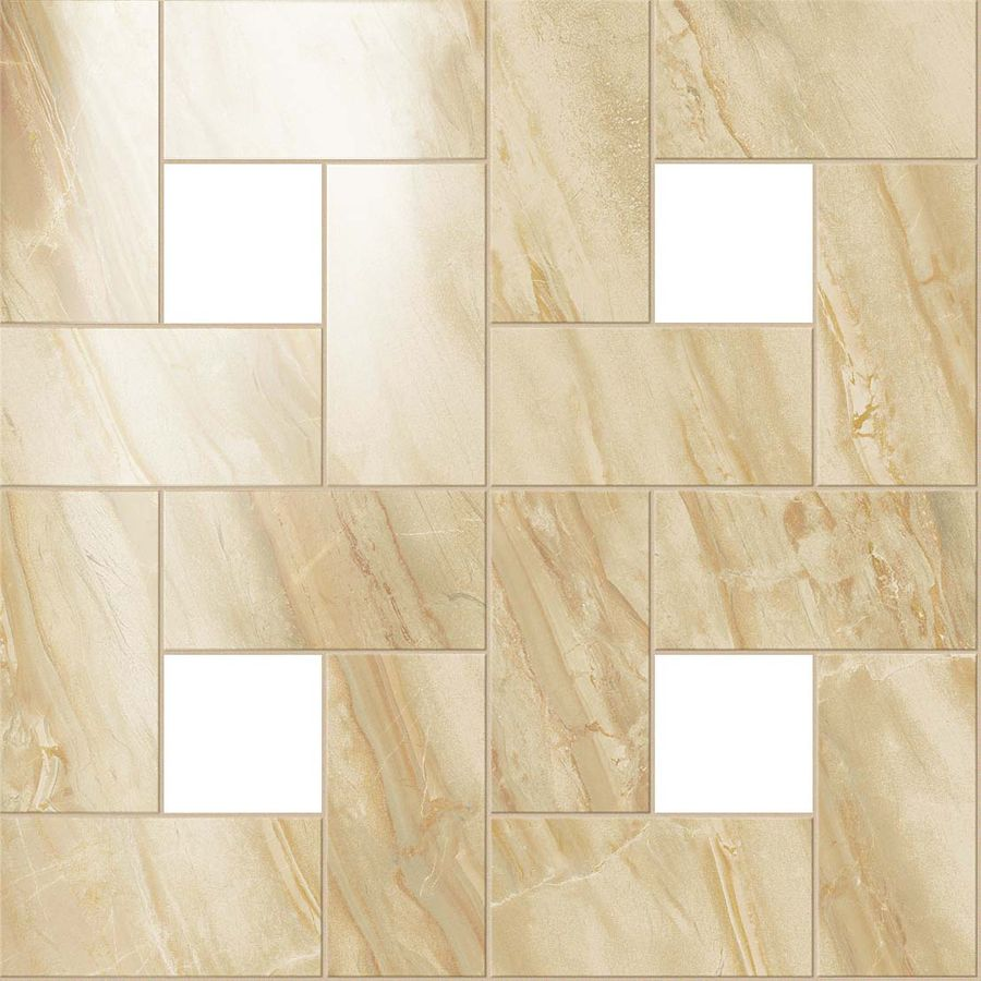 S.M. Elegant Honey Mosaic Lap 45x45